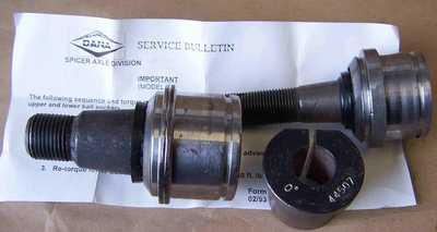 Dana 60 BALL JOINTS (Socket Assemblys) 1992 and Later Ford Front